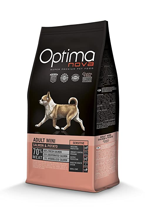 "Optima nova Pienso para perros adultos mini ã""ptima nova grain free salmón y patata"