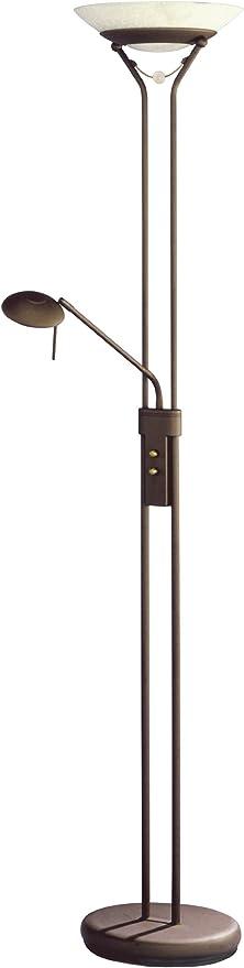 Trio 4344021-24 Serie 4344 - Lámpara de pie, bombilla incluida, R7S, Halógeno, 230 W, 4650 lm, 2800 K, 230 V, C, IP20, 180 x 42,5 x 42,5 cm, diámetro 31 cm, metal, óxido: Amazon.es: Iluminación