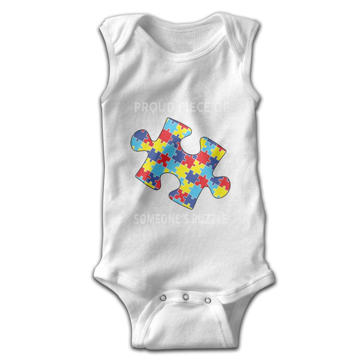 Dunpaiaa Proud Piece of Someones Puzzle Smalls Baby Onesie,Infant Bodysuit Black