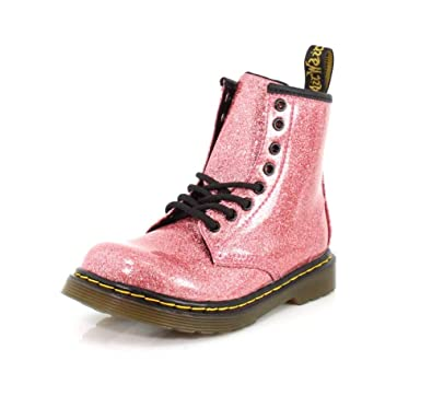 e9834f2a1cc84 Dr. Martens Kid's Collection Girl's 1460 Glitter Stars Delaney Boot (Little  Kid/Big