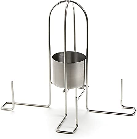 Stainless Steel Beer Can Chicken Holder Stand Collapsible Outset QS54