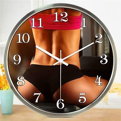 Amazon.com: Stylish Silent Wall Clock Home Kitchen Office ...