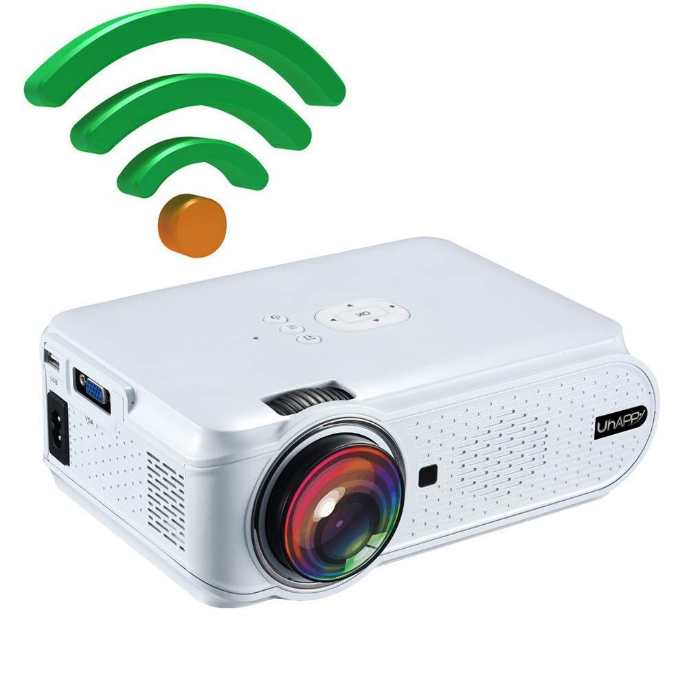 Mouwa Proyector Portátil WiFi, Mini Proyector LED con Control ...