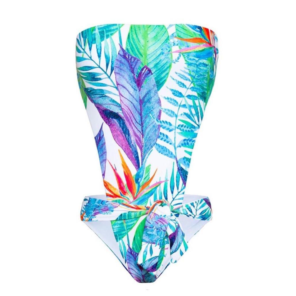 YanHoo Bikini Costume da bagno push-up fasciato spiaggia, Costumi Da Bagno Halter Mare Donne Costume Brasiliana Costumi Da Bagno Push Up Piscina Sportivi Bikini Donna Beachwear Due Pezzi