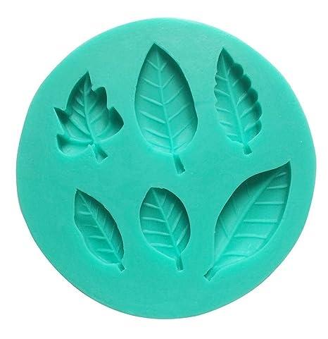 Umiwe(TM) Molde de Silicona de 6 Cavidad Hojas Hermosas de Fondant, Molde