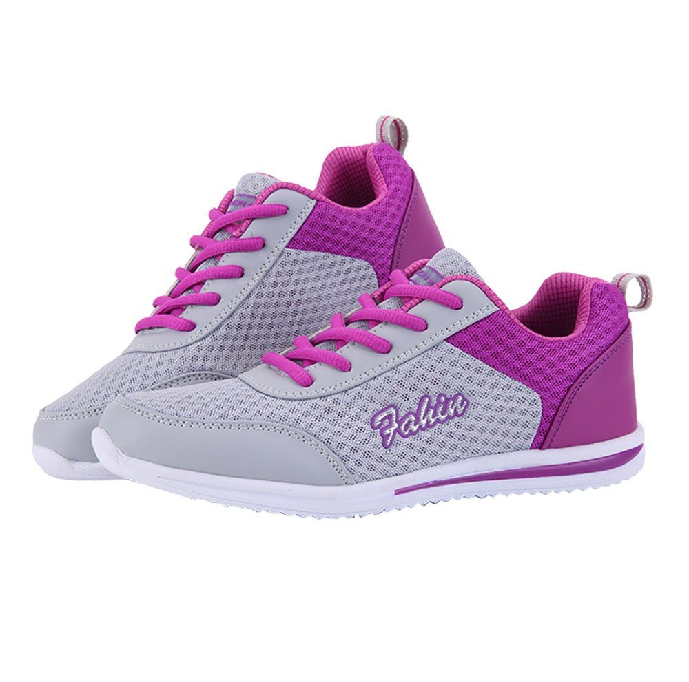 SCSAlgin Fashion Women Shoes Casual Shoes Outdoor Walking Shoes Flats Shoe Sports Shoes (Purple, 36)