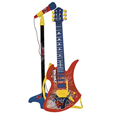 REIG Ultimate Spider-Man Guitar and Microphone: Toys & Games