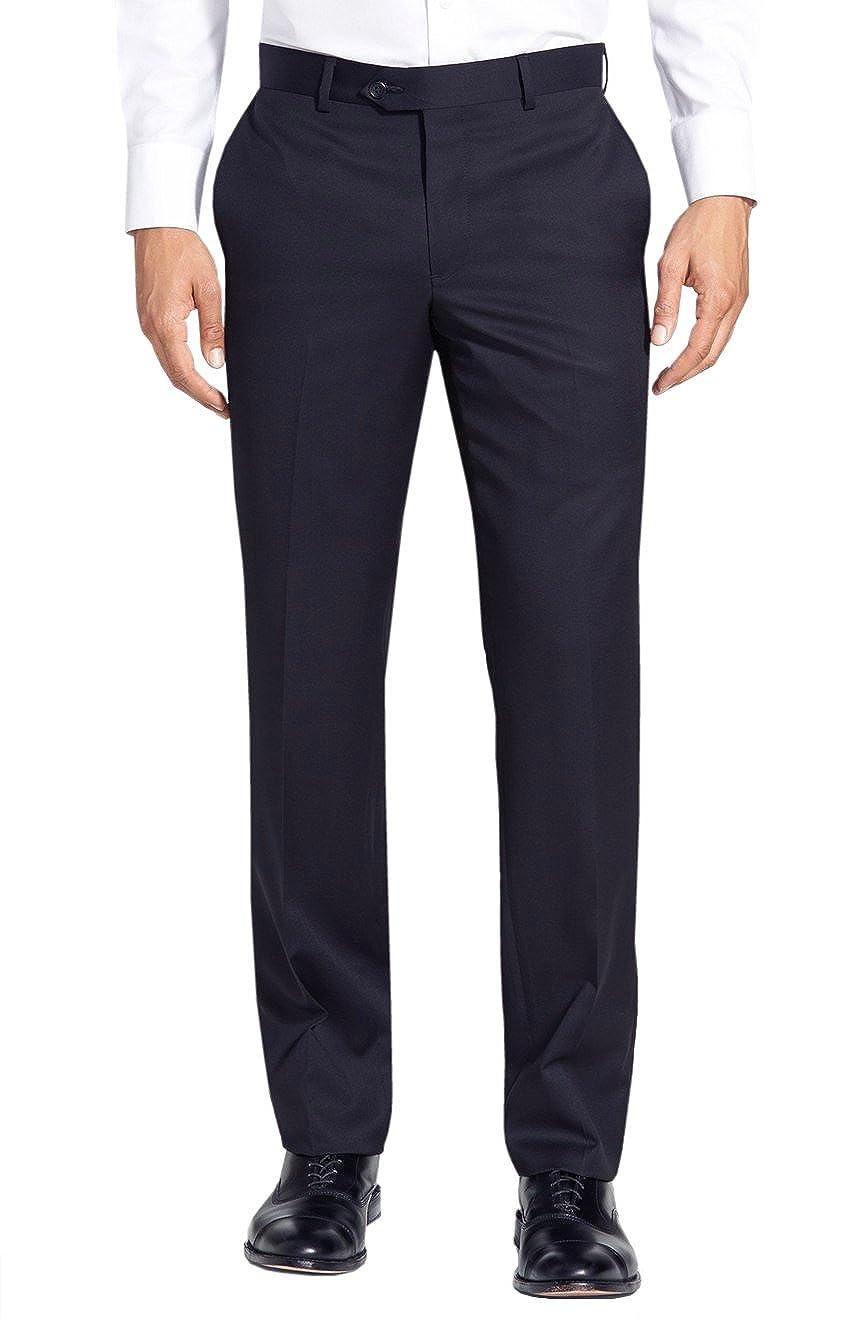 268e6c026fa7 Gino Valentino Black Label Premium Wool Silk Flat Front Mens Dress Pants at  Amazon Men s Clothing store