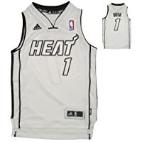 LIMITED EDITION: YOUTH NBA Miami Heat Bosh #1 Pro Quality Athletic Jersey Top with Embroidered Logo & Numbers