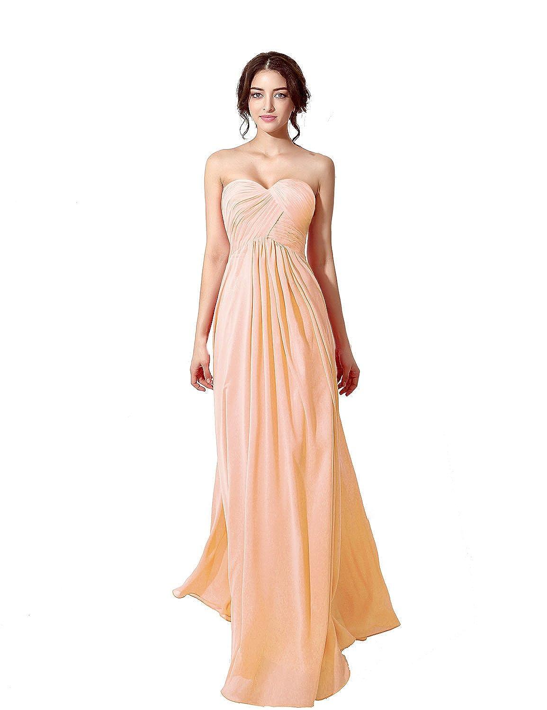 795a60639827d Clearbridal Damen Chiffon Herzform Lange Abendkleid Maxikleid  BrautjungfernKleid CSD182: Amazon.de: Bekleidung