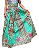 GenericWomen Dashiki Africa Print High Waist Pleated A-line Maxi Long Skirts 1 L