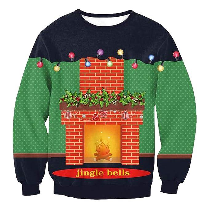 Vectry Rebajas Mujer Sudadera Navideña Camiseta con Manga Larga para Navidad Sudadera con Cuello Redondo Sudadera con Patrón De Navidad Sudadera con ...