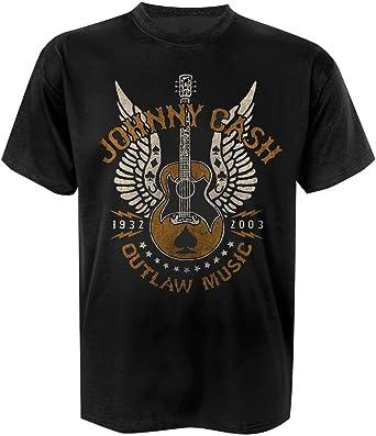 Johnny Cash Outlaw Music T-Shirt schwarz