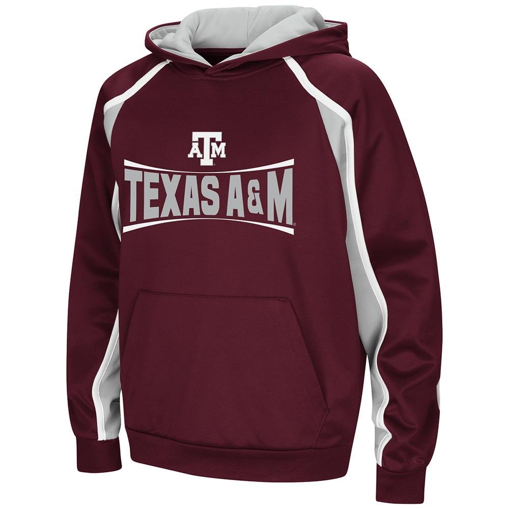 Colosseum Youth Texas A&M Aggies プルオーバーパーカー B07GFQVHSG  Medium (12/14) with Name Embroidered