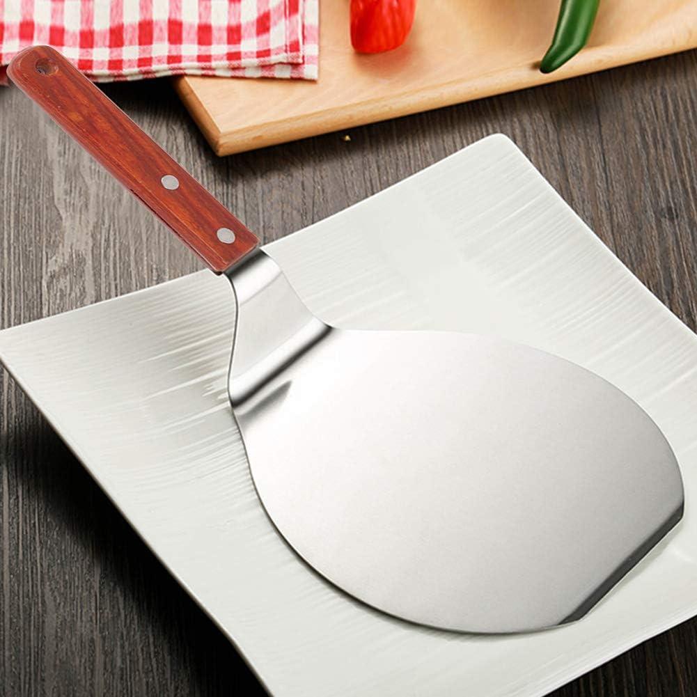 Pala para pizza de acero inoxidable con mango de madera maciza ecol/ógica para tartas y quesos