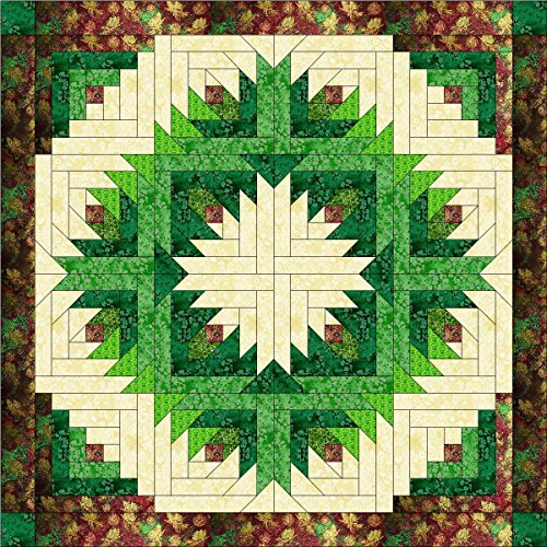 Easy Quilt Kit Log Pineapple Christmas Wreath/EXPEDITED SHIPPING