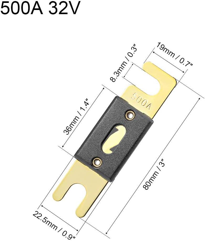 sourcing map ANL Sicherung 30 Amp DC 32 Volt f/ür Kfz Kfz Audio Verst/ärker Wechselrichter