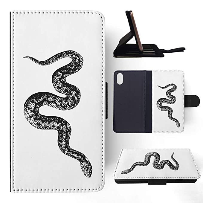 Amazon com: Snake Sketch 2 Flip Wallet Phone Case Cover for
