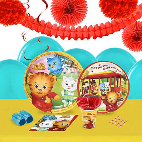 Daniel Tigers Neighborood Party Supplies - Tableware and Decoration Party Pack for 16 (Owl In A Tree Costume)