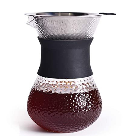 Xiaozou Cafetera Jarra y Filtro Reutilizable cafetera en casa ...