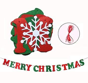 Buchstaben Frohe Weihnachten.Nectaroy Frohe Weihnachten Fahne Girlanden Für Weihnachten Party