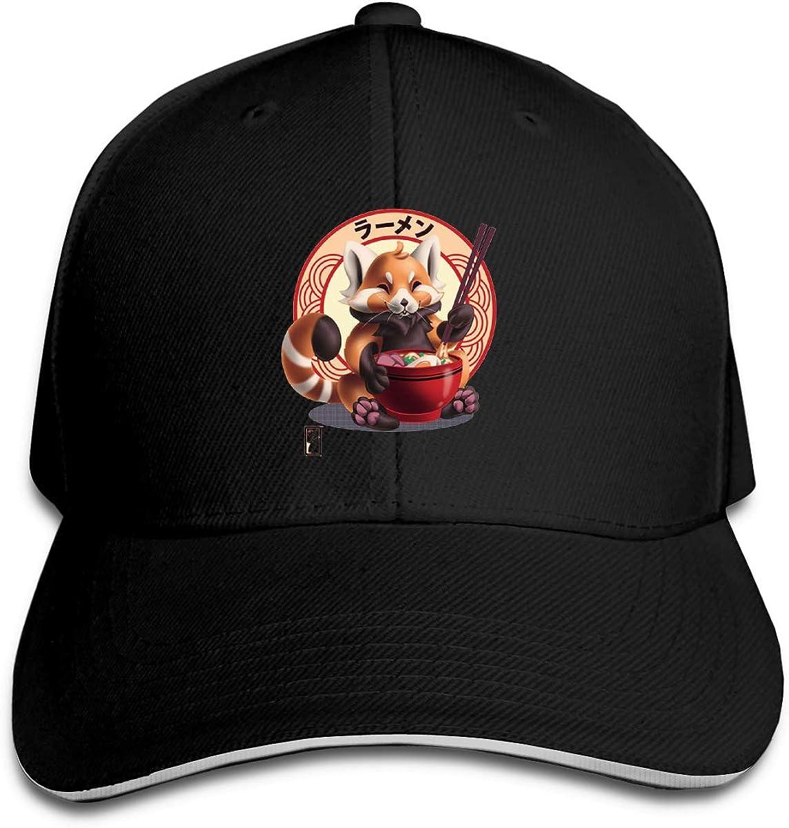 Red Panda Noms Classic Adjustable Cotton Baseball Caps Trucker Driver Hat Outdoor Cap Black