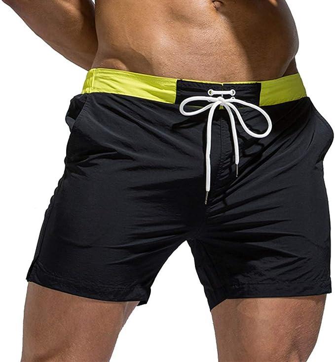 Generic Mens Swim Trunks Surf Short Swimwear Gym Pockets Shorts