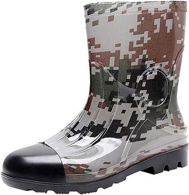 MrTom Botas de Agua Camuflaje Unisex Adulto Goma Botas de Lluvia Impermeable Botas de Seguridad Militares Calzado de Trabajo Zapatos de Jardín Exterior Antideslizante Rain Boots Water Shoes: Amazon.es: Zapatos y complementos