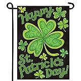 #7: Shamrocks St. Patrick's Day Garden Flag Decorative Clovers Irish Green