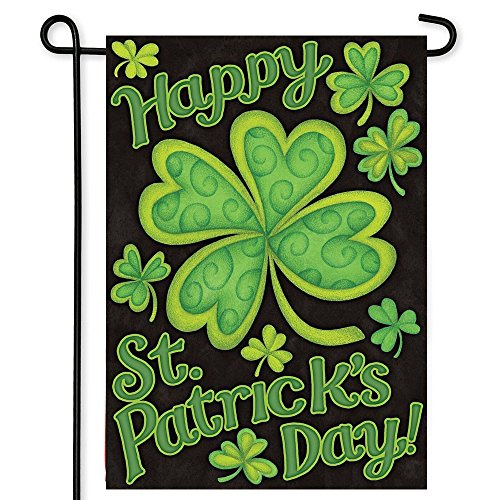 MZYARD Shamrocks St. Patrick's Day Garden Flag Decorative Clovers Irish Green