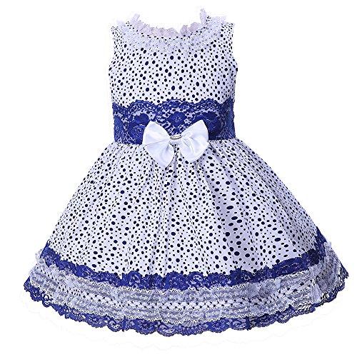 Lajinirr Pequeño Niñas Cordón Princesa Vestir Polca Puntos Sin Mangas Vestidos con Venda 12 Años: Amazon.es: Ropa y accesorios