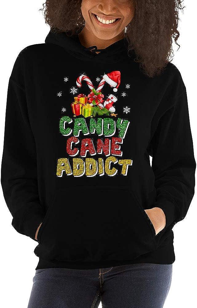 TEEPOMY Candy Cane Addictt Funny Unisex Hoodie