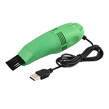 sourcing map Ordenador Portátil Ordenador Portátil Teclado Puerto USB Mini Aspiradora Verde: Amazon.es: Electrónica