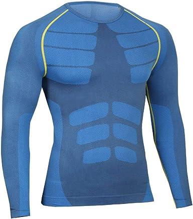 Bwiv Camiseta Hombre Deportiva Compresión Camiseta Interior Hombre Manga Larga Fitness Gimnasio Aire Libre para Entrenamiento Ciclismo Talla M hasta XL 3 Colores: Amazon.es: Ropa y accesorios