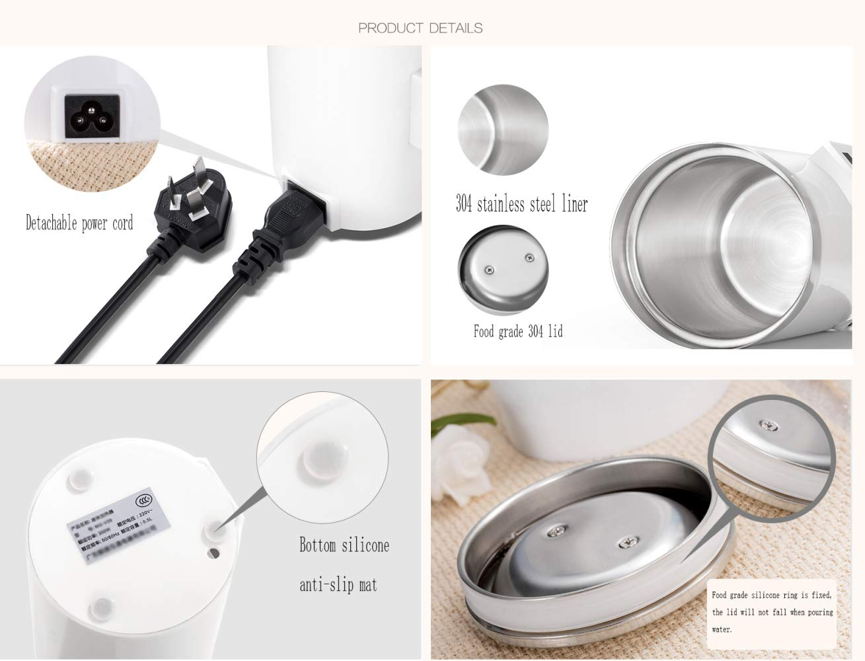Amazon.com: OLI Viaje eléctrica Kettle, pequeño mini taza ...