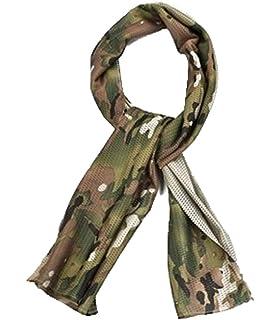 Dcolor Foulard Echarpe Cheche Cache-Col Camouflage Tactique Militaire Armee  Police Moto Trois camouflage sable 179a401e07f