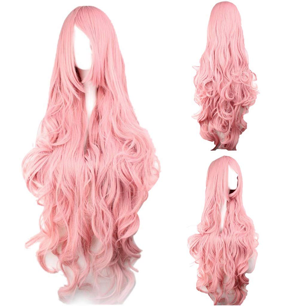 Jeeke Cosplay V Singer Cosplay Wig Long Curly Synthetic Wig Fashion Costume Wigs