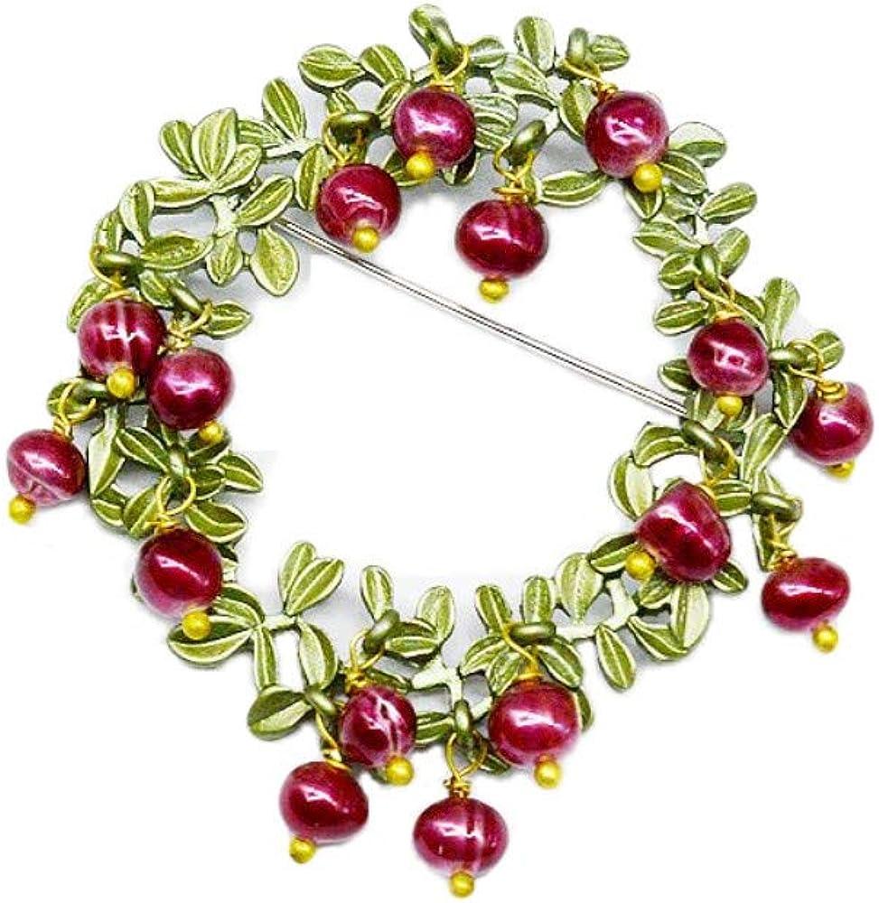 ZLXUEFL Broches Y Alfileres para Mujer Collar De Diamantes con Broche De Perlas.