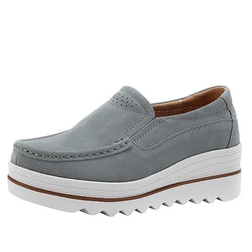 Zapatillas de Náuticos Mujer Otoño 2018 Zapatos de Dama con Plataforma PAOLIAN Casual Cómodo Calzado Moda Negras Zapatillas de Deporte Señora: Amazon.es: ...