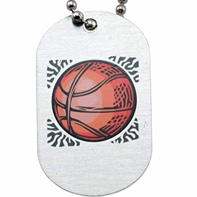 Phil 413 Basketball Mini Dog Tag Necklace