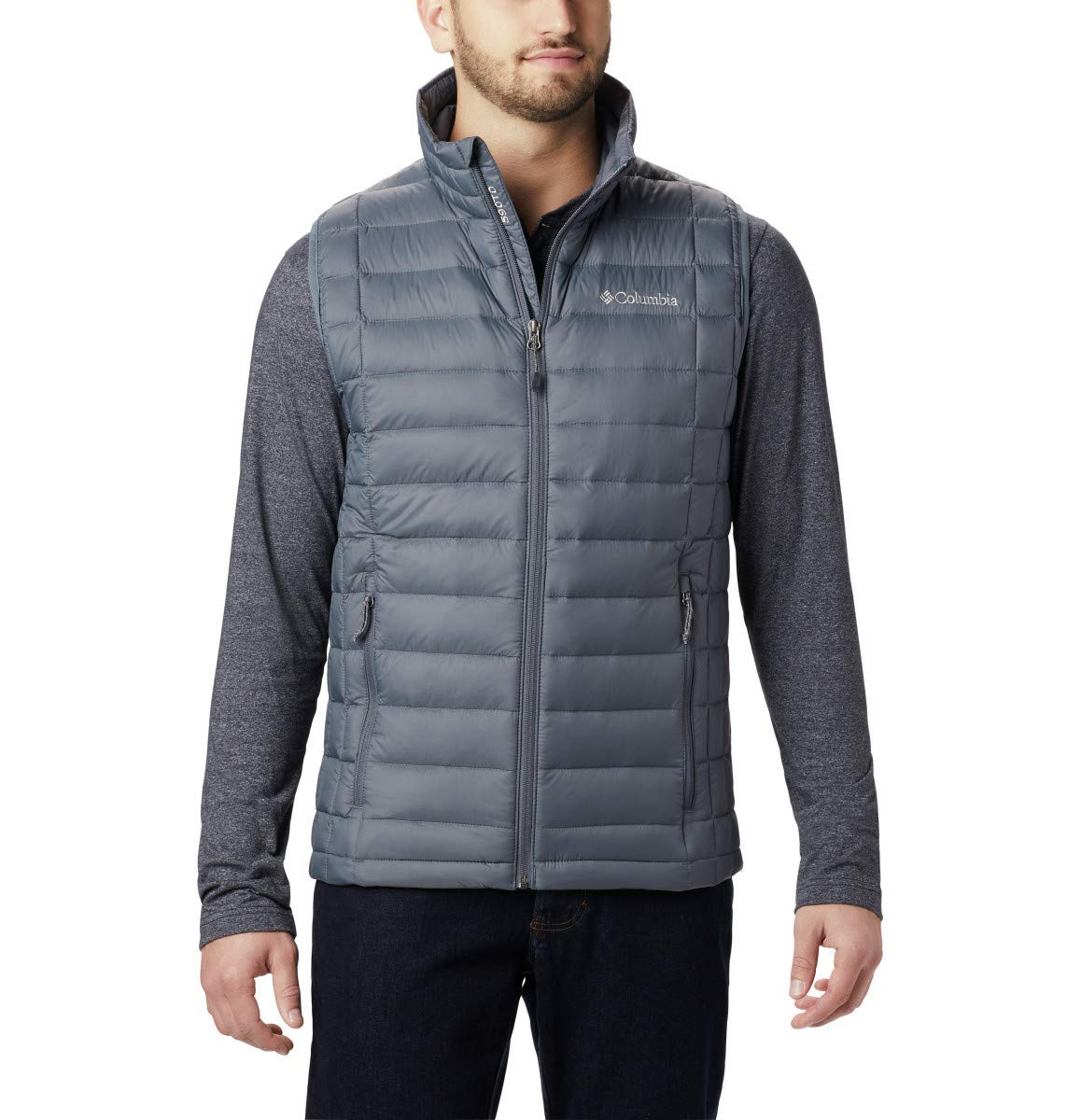 Columbia Men's Voodoo Falls 590 TurboDown Vest, Graphite, Medium by Columbia