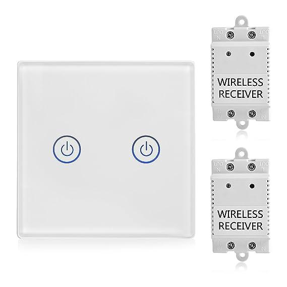 TSSS 2-Wege Touch Funk Schalter mit Empfänger Kit - Wireless ...