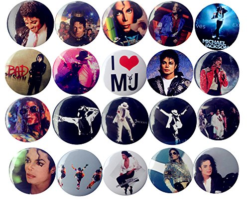 The Bigger Vivider 1 .75 inch Badge / Button / Pin / Pinback/ Button Set, (Michael Jackson)