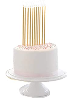 Wish Party Goods 24 Count Extra Long Thin Candles With Holders For Parties Birthday Cakes