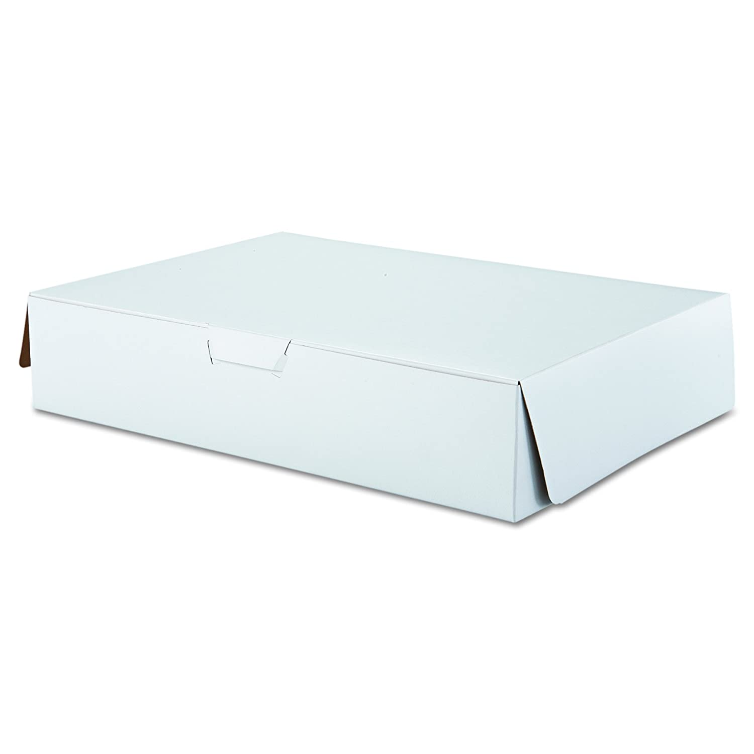 "Southern Champion Tray 1029 Premium Clay Coated Kraft Paperboard White Non-Window Sheet Cake and Utility Box, 19"" Length x 14"" Width x 4"" Height, 1/2 Sheet (Case of 50)"