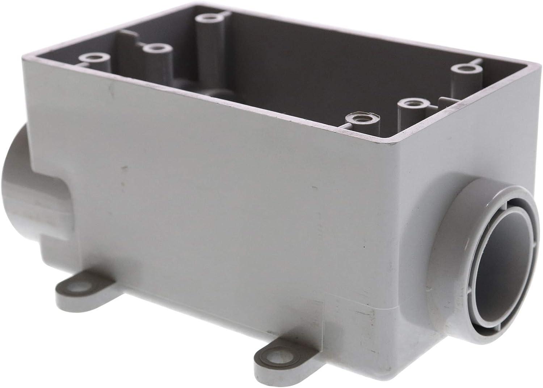 Cantex 5133545 Fscc Pvc Weatherproof Box 1 Gang Surface Mount 3 4 Inch Electrical Boxes Amazon Com