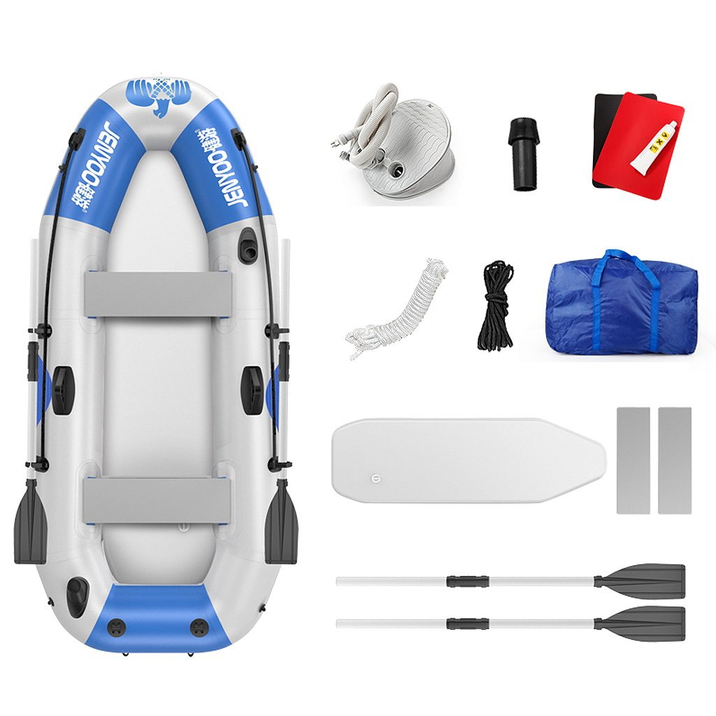 MX Inflatable Kayak Outdoor 14 People Water On Assault Boat Thickened Fishing Boat Inflatable Boat Dinghy Boat Hovercraft 3 color 4 Size Optional (color   2 , Size   2.65×1.2m)