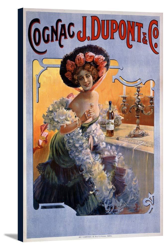 コニャックJデュポンヴィンテージポスターフランス 24 x 36 Gallery Canvas LANT-3P-SC-60117-24x36 B0184B16Z4  24 x 36 Gallery Canvas
