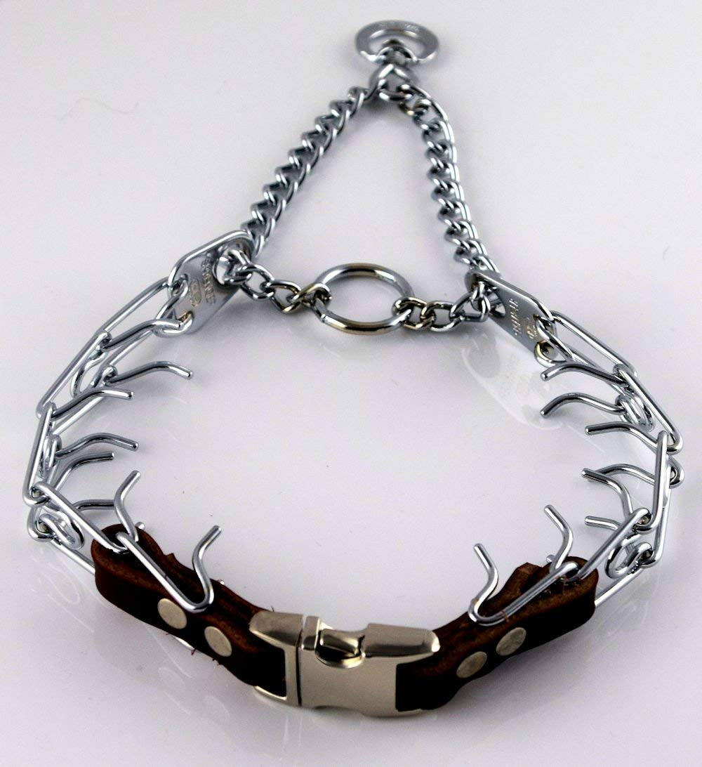 Herm Sprenger Chrome Prong Collar with Pawmark Quick-Snap Buckle - Medium by Pawmark Products