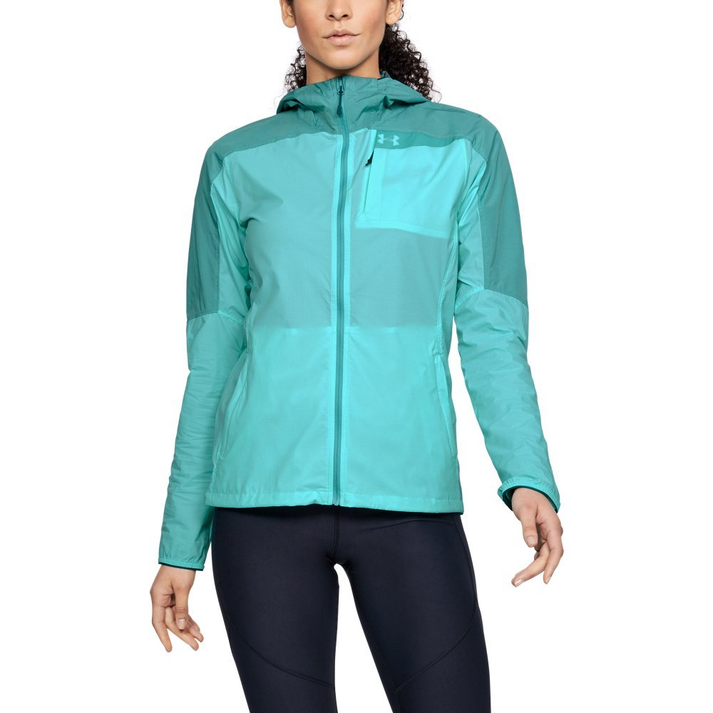 Under Armour Women's Scrambler Hybrid Jacket, TROPICAL Tide/Desert Sky, Large by Under Armour